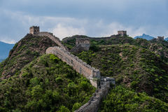 great wall. Green moutain with great wall Stock Photo