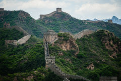 Great wall. Green moutain with great wall in beijing stock photography