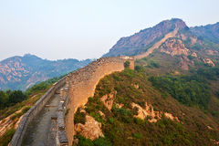 The Great Wall and hills sunrise scenery Royalty Free Stock Photo