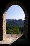 The Great Wall II. The Great Wall of China, view through a window Royalty Free Stock Photography