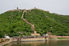 Great wall of Jaipur Royalty Free Stock Photography