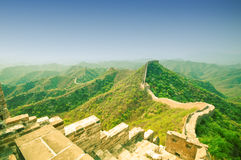 Great wall by Jinshaling in China Stock Image
