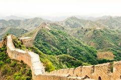 Great wall by Jinshaling China stock image