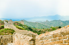 Great wall by Jinshanling in China Royalty Free Stock Image