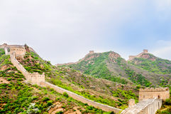 Great wall by Jinshanling in China Royalty Free Stock Images
