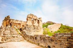 Great wall by Jinshanling in China Stock Image