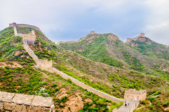 Great wall by Jinshanling in China Stock Photography