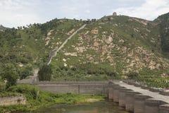 The great wall. Jiu Men Kou,China Royalty Free Stock Photos