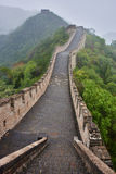 The great wall in the mist  China Stock Photo