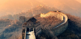 Great Wall morning Stock Photo