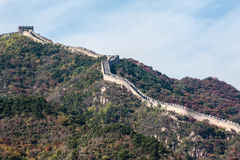 Great Wall on the mountain Royalty Free Stock Photos