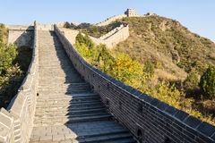 Great Wall in the mountain Stock Images