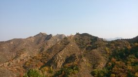 The Great Wall and mountain Stock Photography