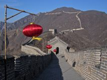 Great Wall in Mutianyu. View of the Great Wall in Mutianyu, China stock images