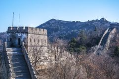 Great Wall at Mutianyu. Near Beijing, China Royalty Free Stock Photos