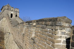 Great wall at Mutianyu, Beijing. Part of the great wall at Mutianyu, Beijing in China royalty free stock photography