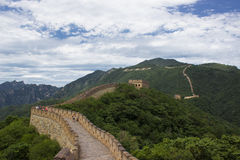 Great Wall at Mutianyu Stock Image