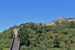 The Great Wall at Mutianyu Royalty Free Stock Images
