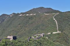 The Great Wall at Mutianyu Royalty Free Stock Image
