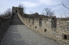 Great Wall at Mutianyu, Ming Wall. Old part of the Great Wall near Beijing, China. It was built in the Ming Dynasty stock photos
