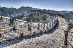 Great Wall. At Mutianyu near Beijing, China Royalty Free Stock Images