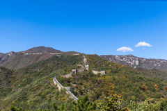 The great wall, Mutianyu Part. View in autumn. the great wall in Mutianyu, Beijing royalty free stock photos