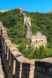Great wall near Beijing in China Stock Photos