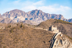 The great wall near Beijing Royalty Free Stock Images