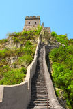 Great wall near Beijing, China Royalty Free Stock Photos