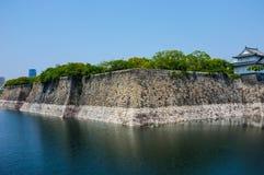 Great Wall of Osaka Castle Stock Photos