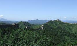 Great wall panorama at Jinshanling Royalty Free Stock Photos