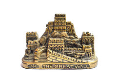 Great Wall paperweight. In white background Stock Images