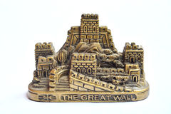 Great Wall paperweight. In white background Royalty Free Stock Photo