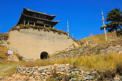 The Great Wall passes. The Yanmeng passes Is an important passes on the Great Wall In northern China.it was builted in 1372 .Fighting occurred 1,000 times in Stock Photo