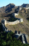 The Great Wall passes. The Great Wall was built in 200 BC, it through northern China and the total length is about 3,000 miles Royalty Free Stock Photos
