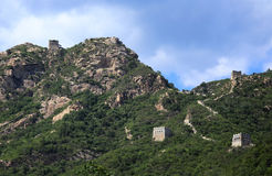 The Great Wall passes Stock Photography