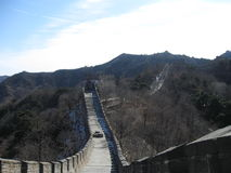 Great Wall path. A walking path on top of the Great Wall of China Royalty Free Stock Photo