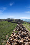 Great wall ruins in inner mongolia Royalty Free Stock Images