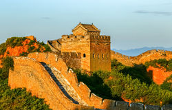 The Great Wall scenery. The Great Wall was built in the spring and Autumn period, which lasted for more than 2000 years, with a total length of more than 50 Stock Images