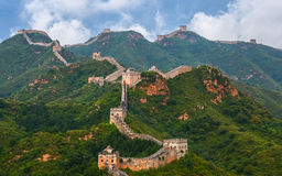 The Great Wall scenery. The Great Wall was built in the spring and Autumn period, which lasted for more than 2000 years, with a total length of more than 50 Stock Photography