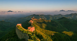 The Great Wall scenery. The Great Wall was built in the spring and Autumn period, which lasted for more than 2000 years, with a total length of more than 50 Royalty Free Stock Photography