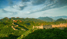 The Great Wall scenery. The Great Wall was built in the spring and Autumn period, which lasted for more than 2000 years, with a total length of more than 50 Royalty Free Stock Photo