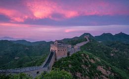 The Great Wall scenery. The Great Wall was built in the spring and Autumn period, which lasted for more than 2000 years, with a total length of more than 50 Stock Photo