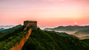 The Great Wall scenery. The Great Wall was built in the spring and Autumn period, which lasted for more than 2000 years, with a total length of more than 50 Stock Image