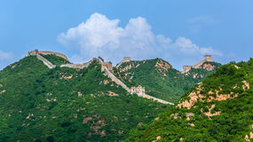 The Great Wall scenery. The Great Wall was built in the spring and Autumn period, which lasted for more than 2000 years, with a total length of more than 50 Royalty Free Stock Images