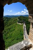 The Great Wall seen from Guard House Window royalty free stock image