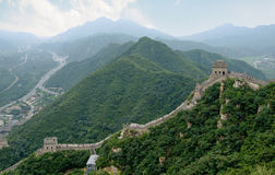 Great Wall. Side view Stock Images