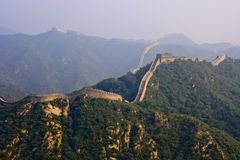 The Great Wall, a site Badaling Stock Photos