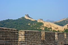 The Great Wall, a site Badaling Stock Photography