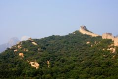 The Great Wall, a site Badaling. Royalty Free Stock Images